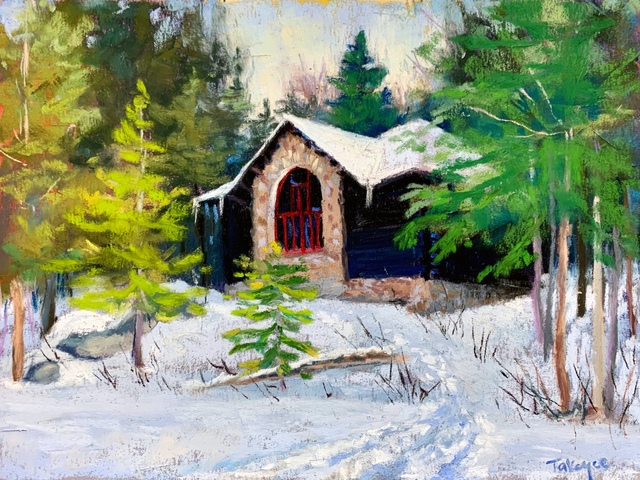 Takeyce Walter, 'Day 1: Artist's Cottage at Santanoni', February 2020, Painting, Pastels, Keene Arts