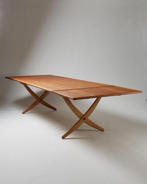 ", 'Dining table ""Sabre leg"" ,' ca. 1950, Modernity"