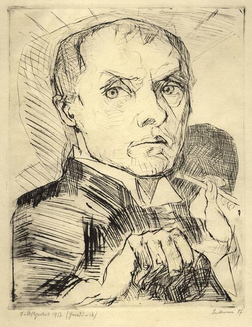, 'Selbstbildnis mit Griffel,' ca. 1916, Jörg Maass Kunsthandel