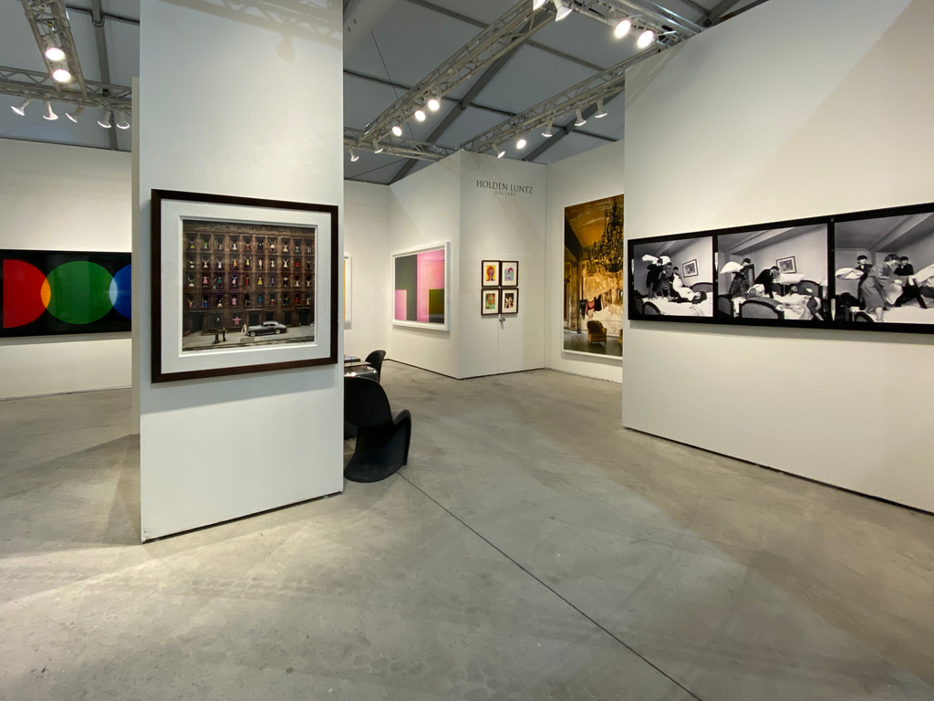 Left to right: Garry Fabian Miller, A Lost Colour World, 2019; Ormond Gigli, Girls in the Windows, 1960; Garry Fabian Miller, Memories Lived in this Place, 2019; Richard Avedon, The Beatles, London, 1967; Michael Eastman, Isabella's Two Chairs, Havana, 2000; Harry Benson, The Beatles - Pillow Fight x3, 1964