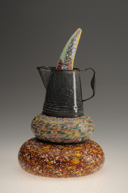 , 'Horn Through Graniteware Coffeepot Doorstop                   ,' 2013, Montague Gallery