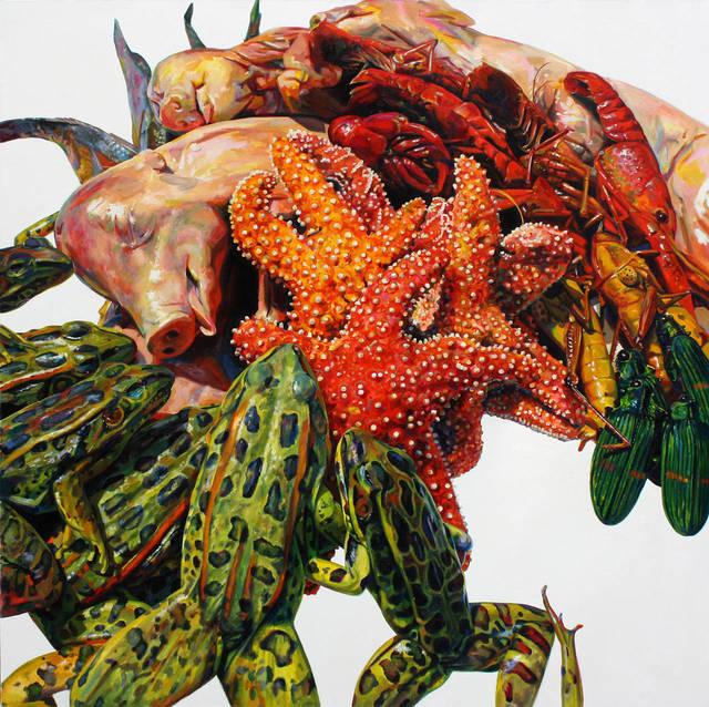 , 'Arrangement with Pigs,' 2014, Resource Art