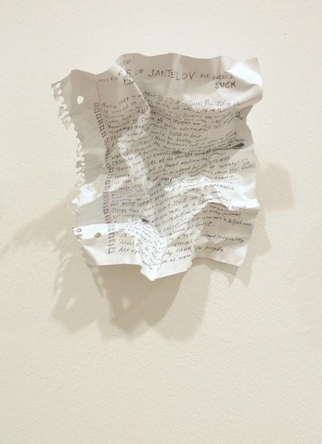 , 'Pros of Jantelov for America,' 2015, Gallery Poulsen