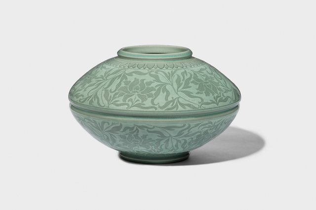 Kwang-yeol Yu, 'Celadon Jar with Inlaid Peony and Scroll Design', 2006, Gallery LVS