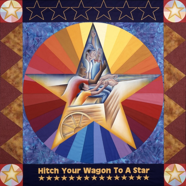 , 'Hitch Your Wagon to a Star, from Resolutions: A Stitch in Time,' 2000, Penn State: Judy Chicago Art Education Collection