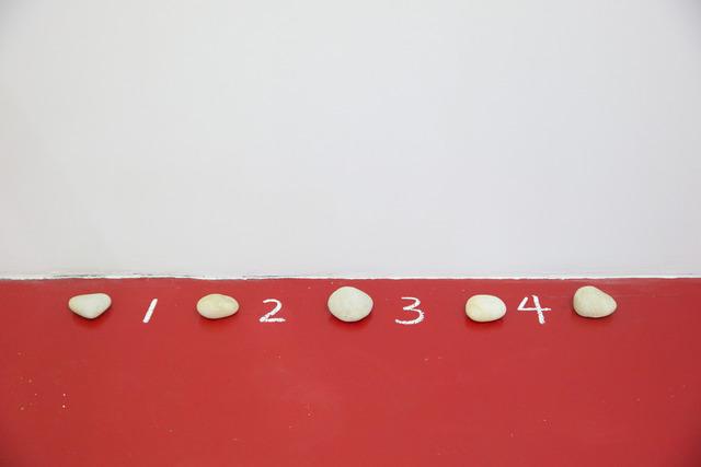 , '5 Stones, 4 Spaces,' 1972, P!