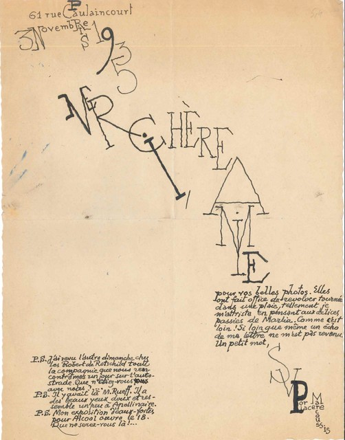 Louis Marcoussis, 'Creative Letter from Louis Marcoussis', 1935, Wallector