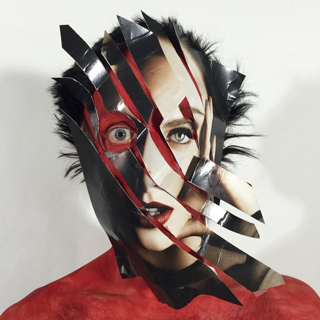 David Henry Brown Jr, 'Fragmenting Head In The Red, Resemblagè', 2016, IFAC Arts