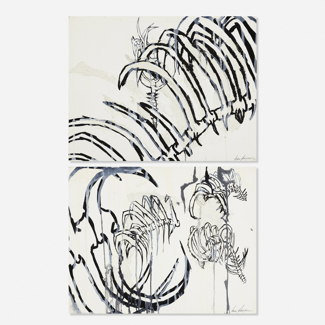 Tania Bruguera, 'Untitled (two works)', 1995, Painting, Gouache, ink, oil, and sand on paper, Rago/Wright