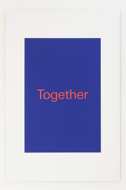 , 'Together,' 2018, Super Dakota