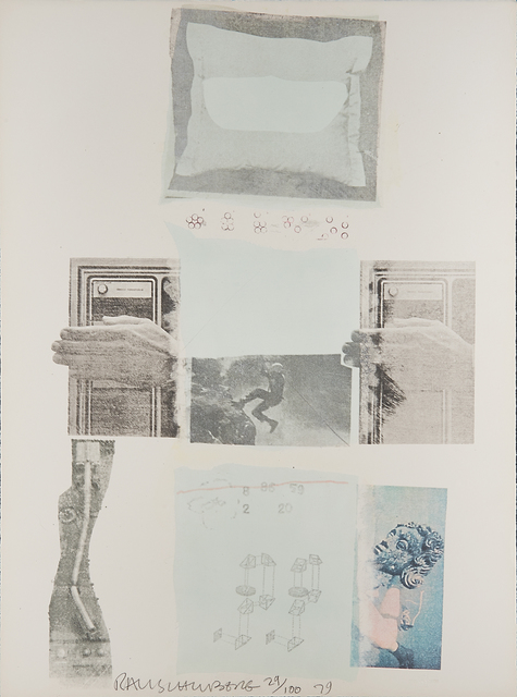 Robert Rauschenberg, 'Two Reasons Birds Sing', 1979, Mixed Media, Lithograph and screenprint in colors with collage (Not framed), Rago/Wright