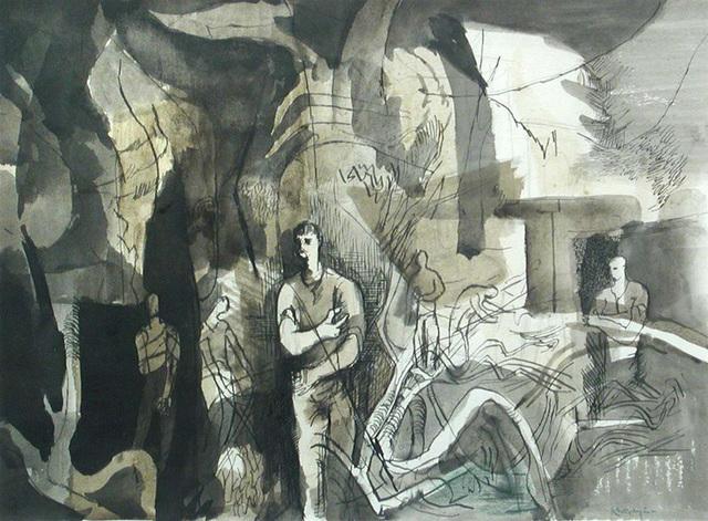 , 'The Wall at Ashton Gifford VII,' ca. 1942, Osborne Samuel