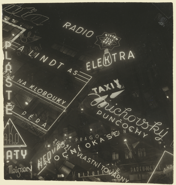 , 'Neon Signs,' 1930-1939, J. Paul Getty Museum