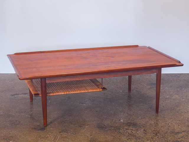 , 'Selig Coffee Table with Woven Cane Shelf,' ca. 1960, Open Air Modern