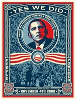 Shepard Fairey, OBAMA - YES WE DID!