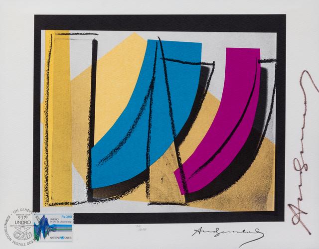 Andy Warhol, 'U.N. Stamp', 1979, Print, Offset lithograph on rives, Hindman