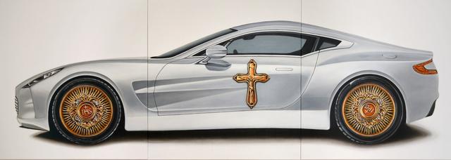 Matus Lanyi, 'The Car (aka Aston), IHS series (3 panels)', 2014, Think + Feel Contemporary