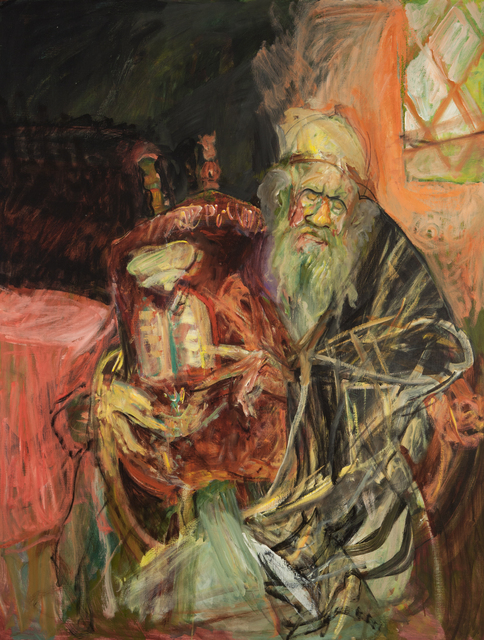 , 'Rabbi with Torah with Stained Glass Window,' , ACA Galleries