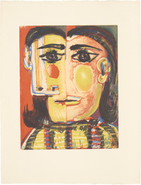 Tête de femme No. 5 (Head of a Woman No. 5): Portrait de Dora Maar (Bl. 1337; Ba. 653)