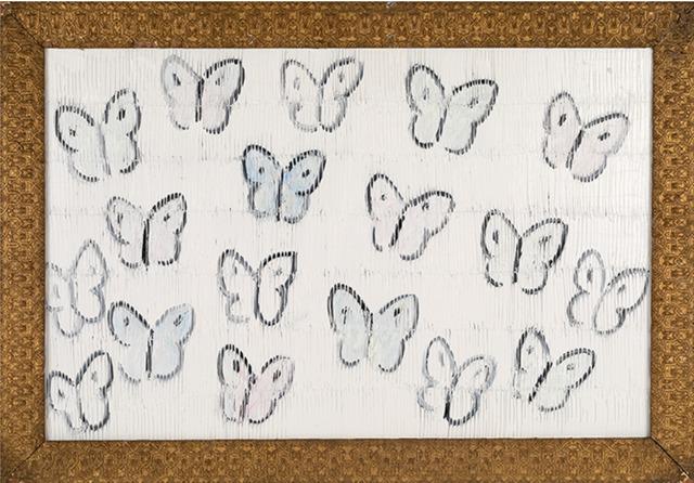 Hunt Slonem, 'Cabbage Butterflies Schaumberg', 2019, Laura Rathe Fine Art