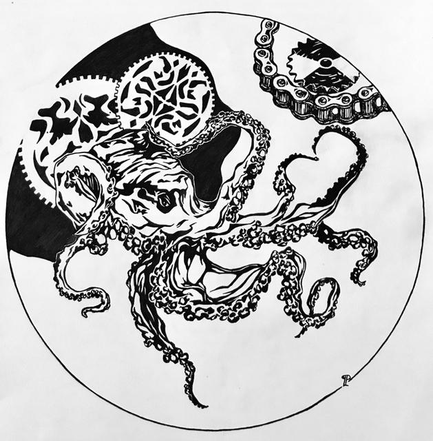Liudmila Panenkova, 'Octopus vs Transmission', 2017, Artscoops