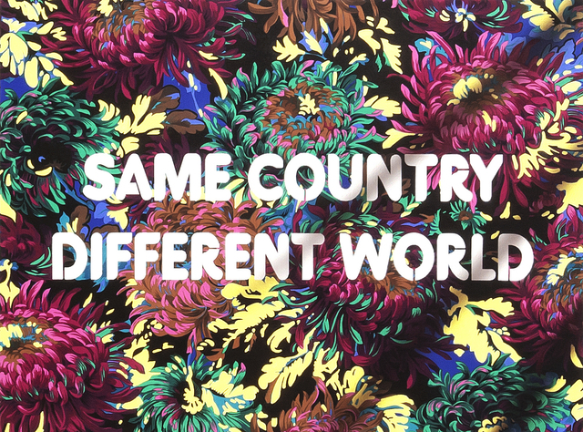 , 'Same Country, Different World,' 2018, River