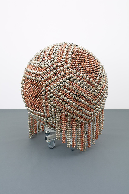 , 'Sonic Sphere – Diagonally-ornamented Copper and Nickel,' 2015, Galerie Chantal Crousel