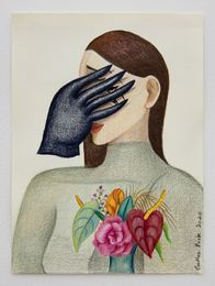 A Woman with Black Glove