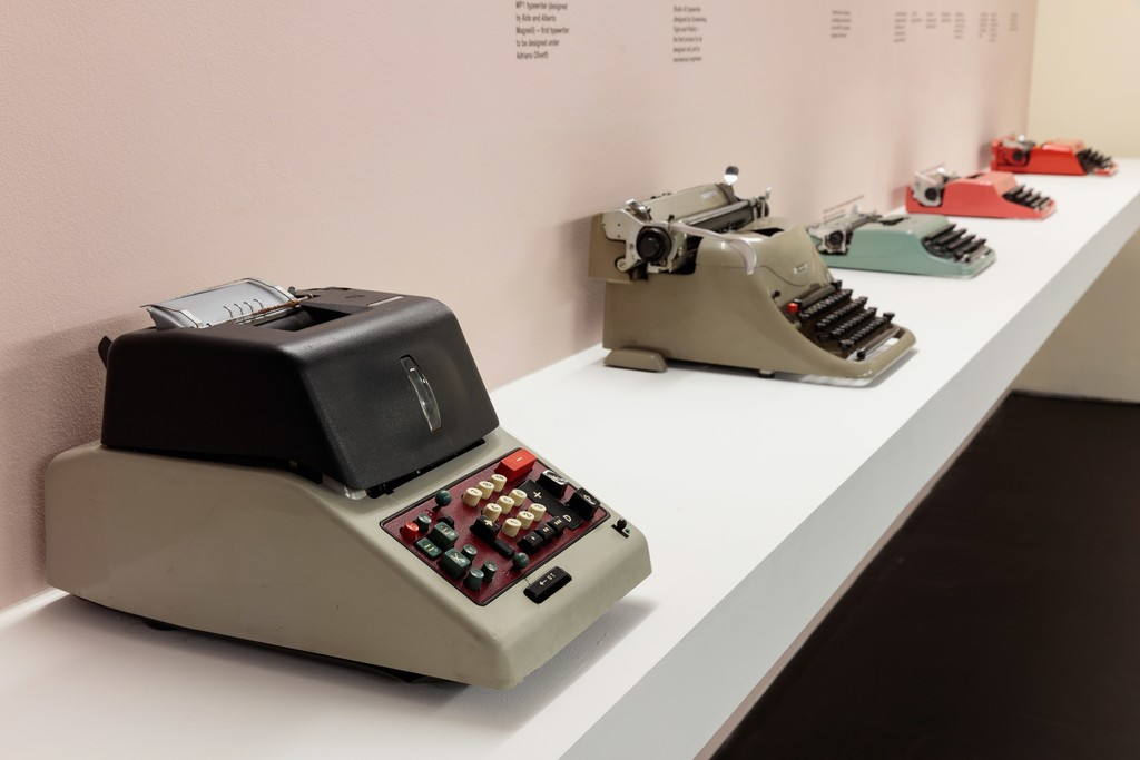 Installation view of Olivetti: Beyond Form and Function