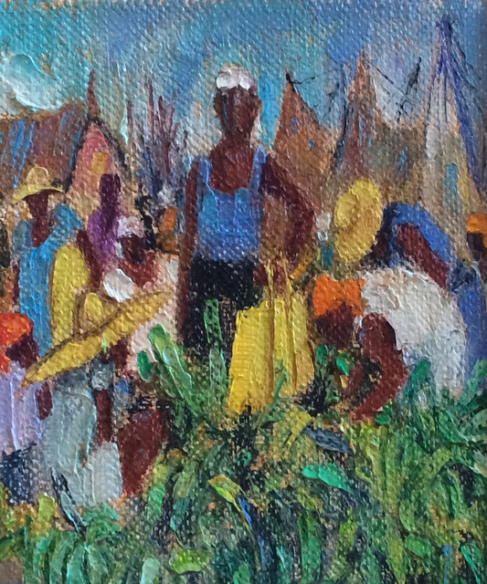, 'The Bananas Sellers,' 2006, Myriam Nader Haitian Art Gallery