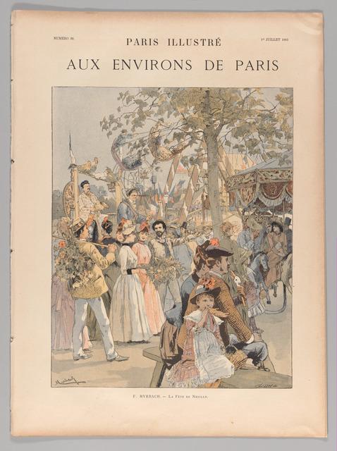"""Unknown French, 'Paris illustré, """"Aux Environs de Paris""""', 1885, The Metropolitan Museum of Art"""
