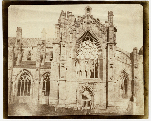 William Henry Fox Talbot, 'Melrose Abby', ca. 1845, Be-hold