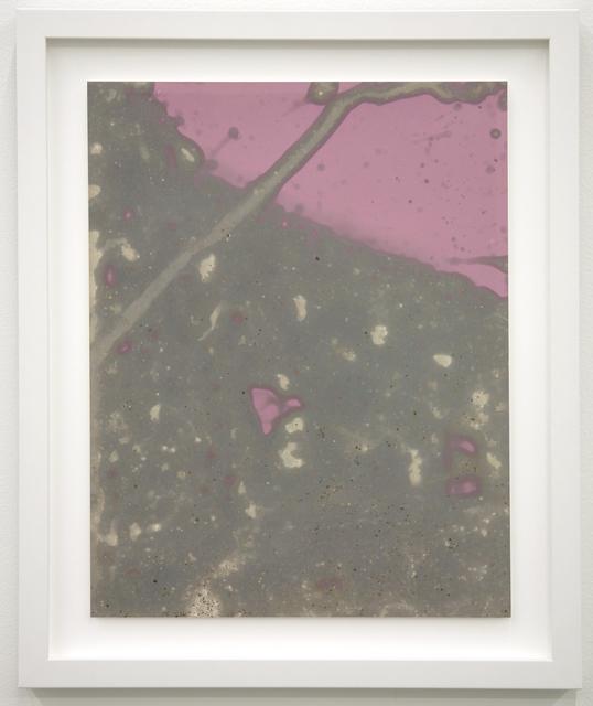 , 'Littoral Drift Sea Print #14 (Rodeo Beach, Sausalito, CA 08.13.12, One Wave and Sea Foam),' 2012, EUQINOM Gallery