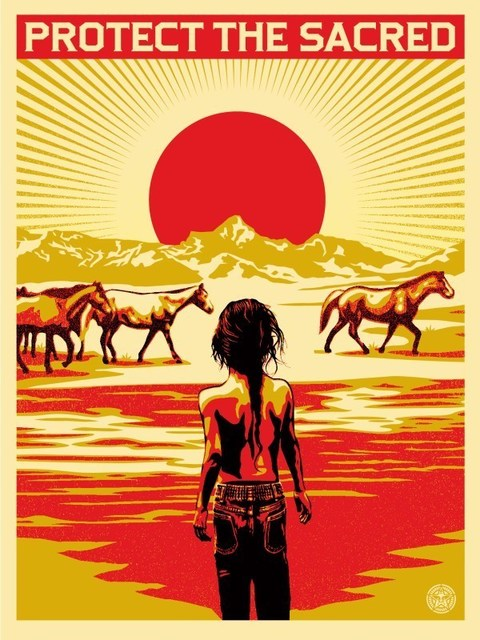 Shepard Fairey, 'Protect the sacred', 2014, DIGARD AUCTION