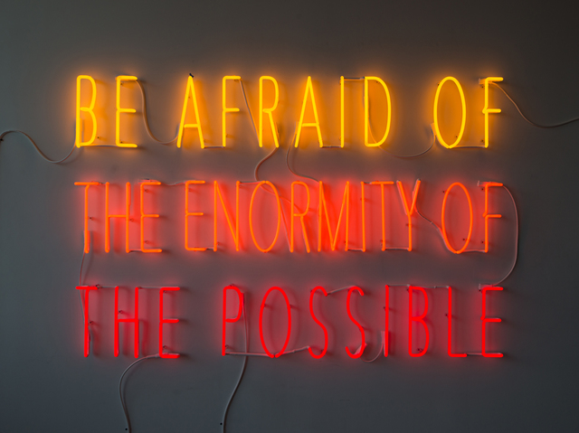 , 'Be Afraid of the Enormity of the Possible,' 2015, Galerie Lelong & Co.