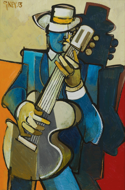 , 'Guitarist with Hat,' 2013, Messum's