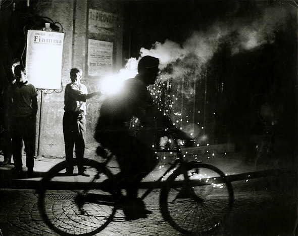 Sabine Weiss, 'Bicyclist, Naples, Italy', 1955/1955, Contemporary Works/Vintage Works