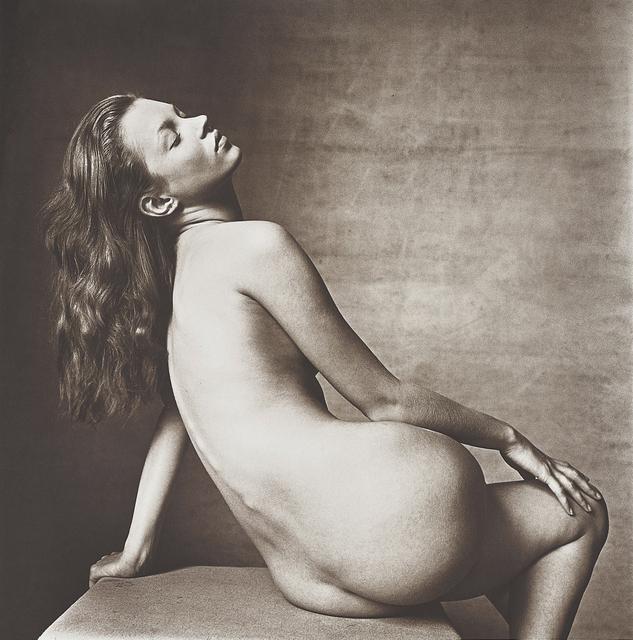 Irving Penn, 'Kate Moss, New York', 25 April 1996, Photography, Platinum palladium print, flush-mounted, Phillips