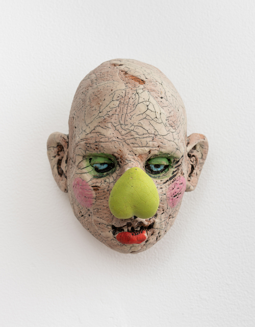 , 'Large Head, Lime Green Heart Nose,' 2018, Eutectic Gallery