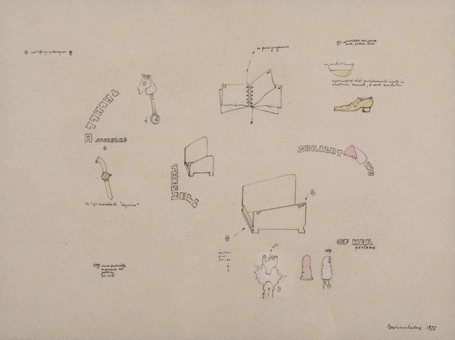 Gianfranco Baruchello, 'Tipo per subacquei', 1977, Drawing, Collage or other Work on Paper, Pencil on paper, Cambi