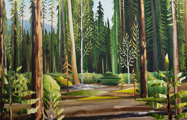 , 'Gold Trees ,' 2017, Peter Robertson Gallery