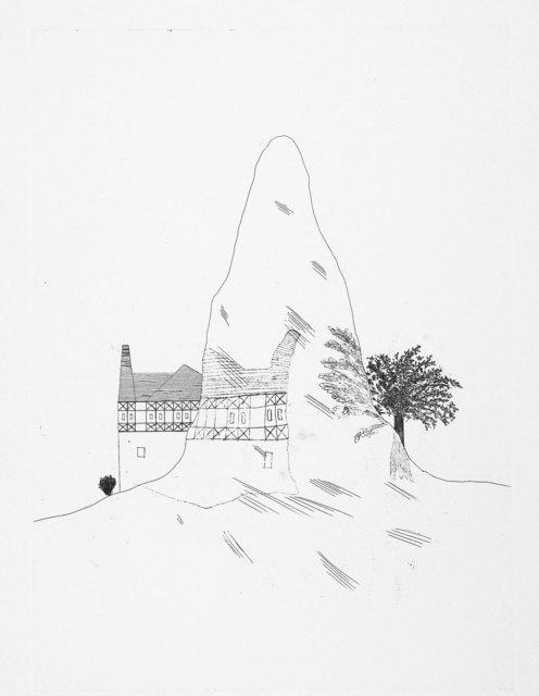 David Hockney, 'The Glass Mountain', 1969, Print, Etching, Goldmark Gallery