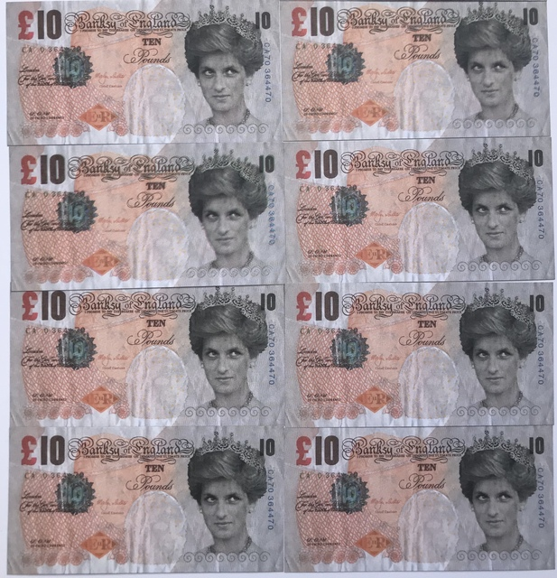 Banksy, 'Di-Faced Tenners, 10 GBP,note', Digard Auction