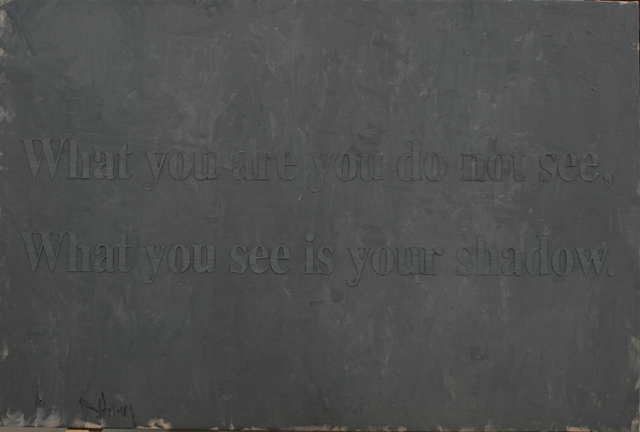 , 'What You Are You Do not See, What You See Is Your Shadow,' 2012, 10 Chancery Lane Gallery