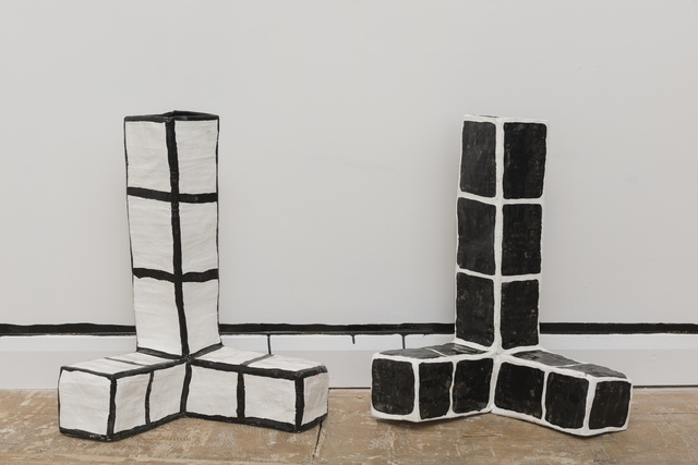 Allegra Pacheco, 'Three Pronged Stacks', 2015, Sculpture, Papier mâché, and oil based paint, LAMB Arts