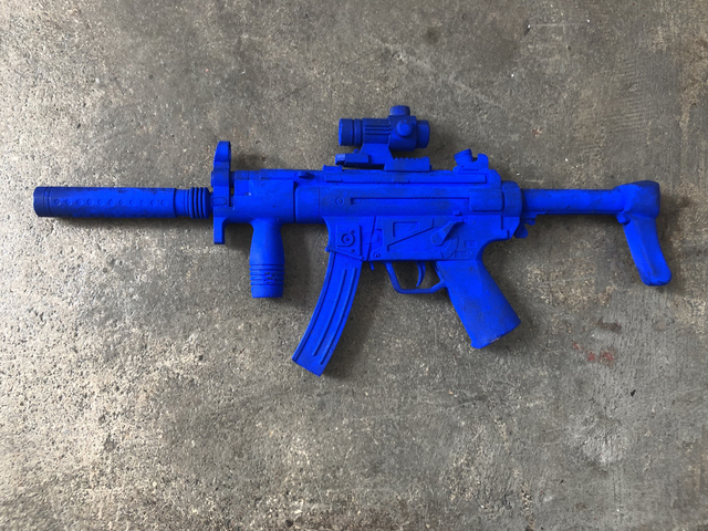 , 'A Blue AR15,' 2018, Locust Projects