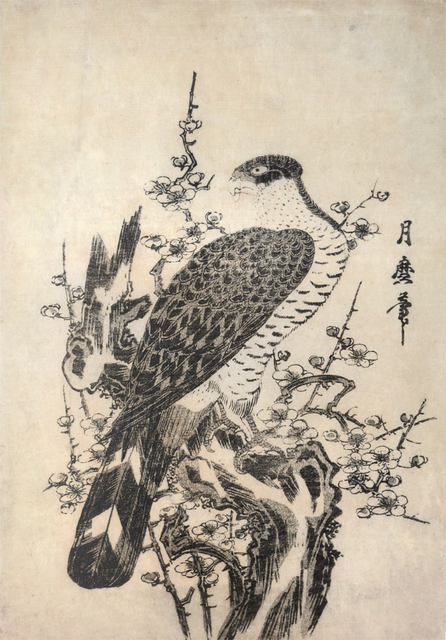 , 'Hawk and Blossoming Plum Tree,' ca. 1806, Ronin Gallery