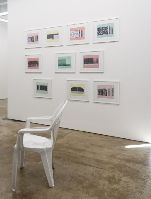 Edra Soto, 'Tropicalamerican (Chair)', 2021, Sculpture, Plastic monoblock chair upholstered with plastic, Morgan Lehman Gallery
