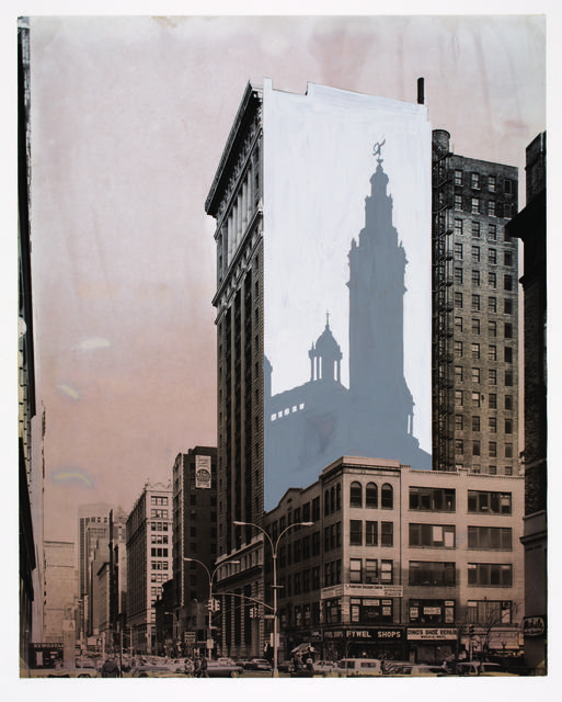 , 'Proposal to Paint the Shadow of Madison Square Garden Tower on the Corner of Park Avenue South and 23rd Street,' 1976, Princeton University Art Museum