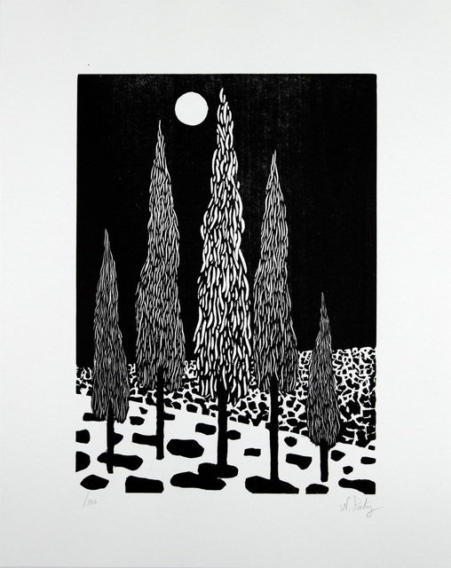 Nicolas Party, 'Trees', 2020, Print, Woodcut on Rives BFK, Lougher Contemporary